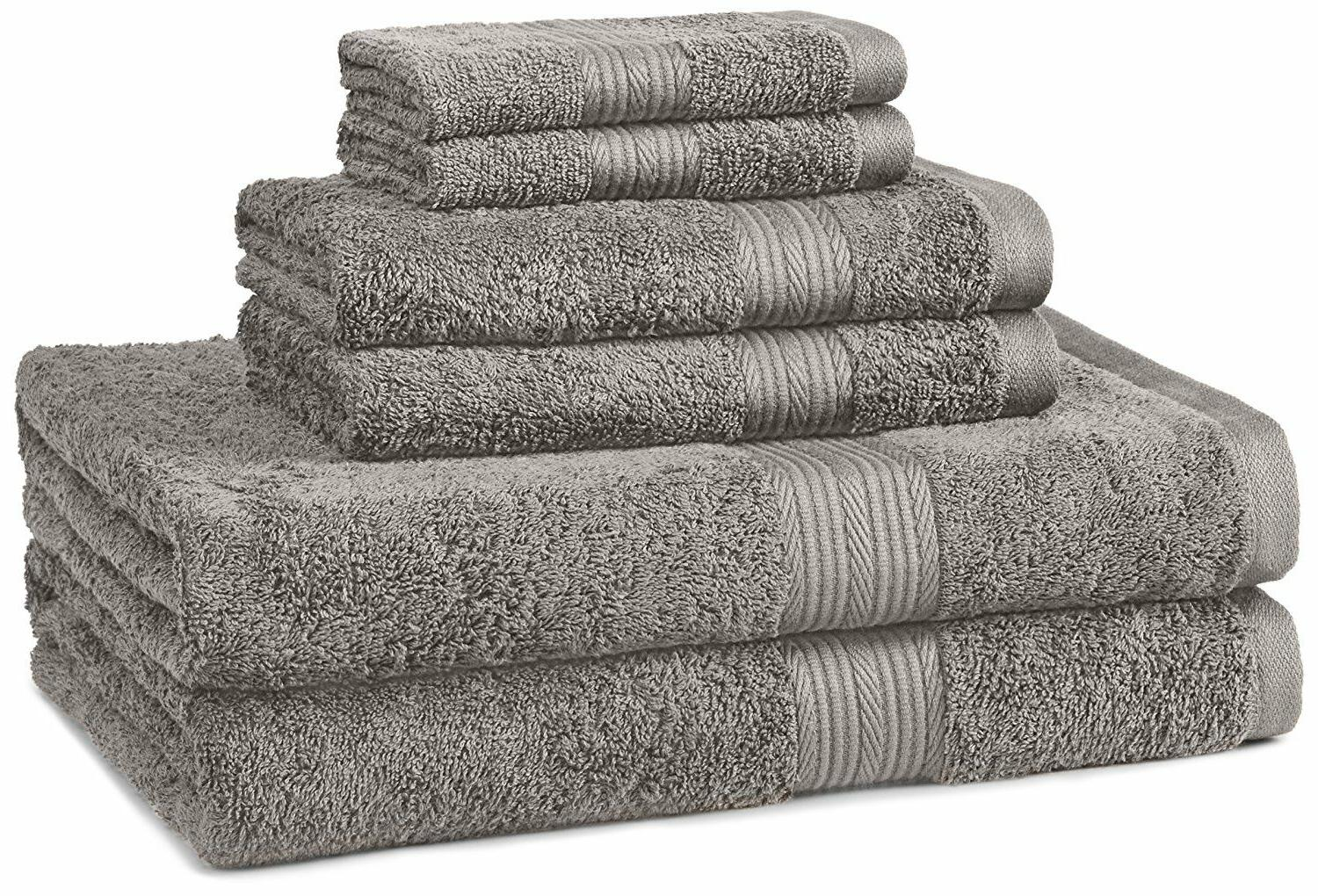 AmazonBasics Fade-Resistant Cotton Towel Set 7