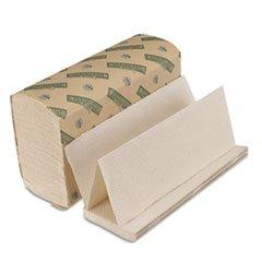 Folded Paper Towels, Multi-Fold, Natural White, 9 1/8 x 9 1/