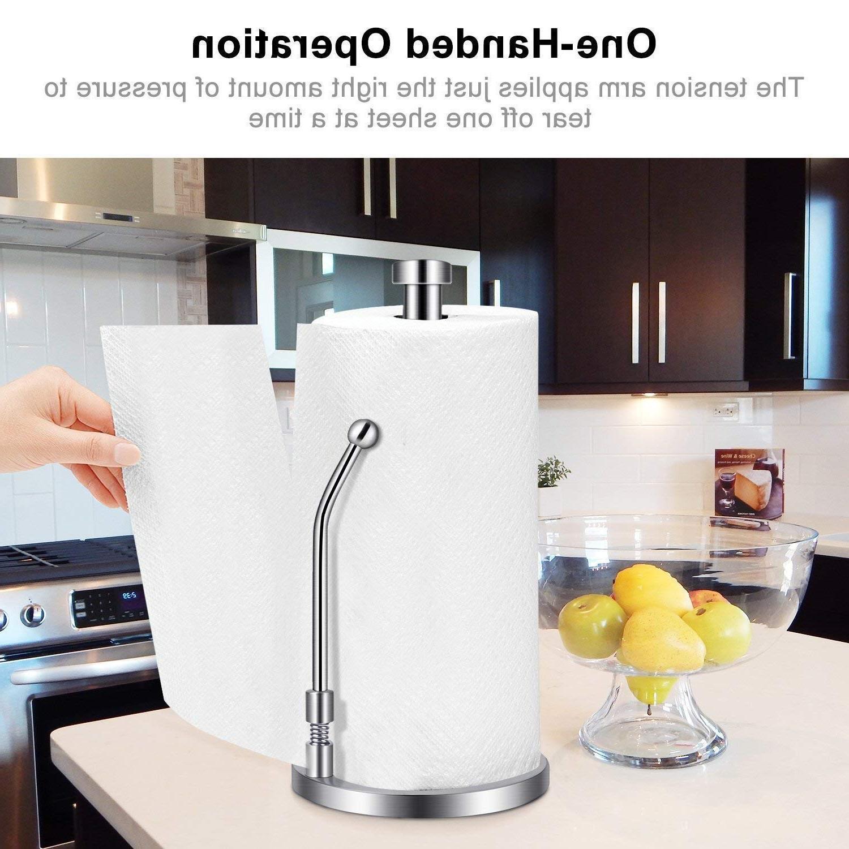 <font><b>Paper</b></font> <font><b>Towel</b></font> Steel Tissue Holder One-<font><b>Handed</b></font> Design for Kitchens