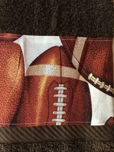 Football Brown Hand Towel