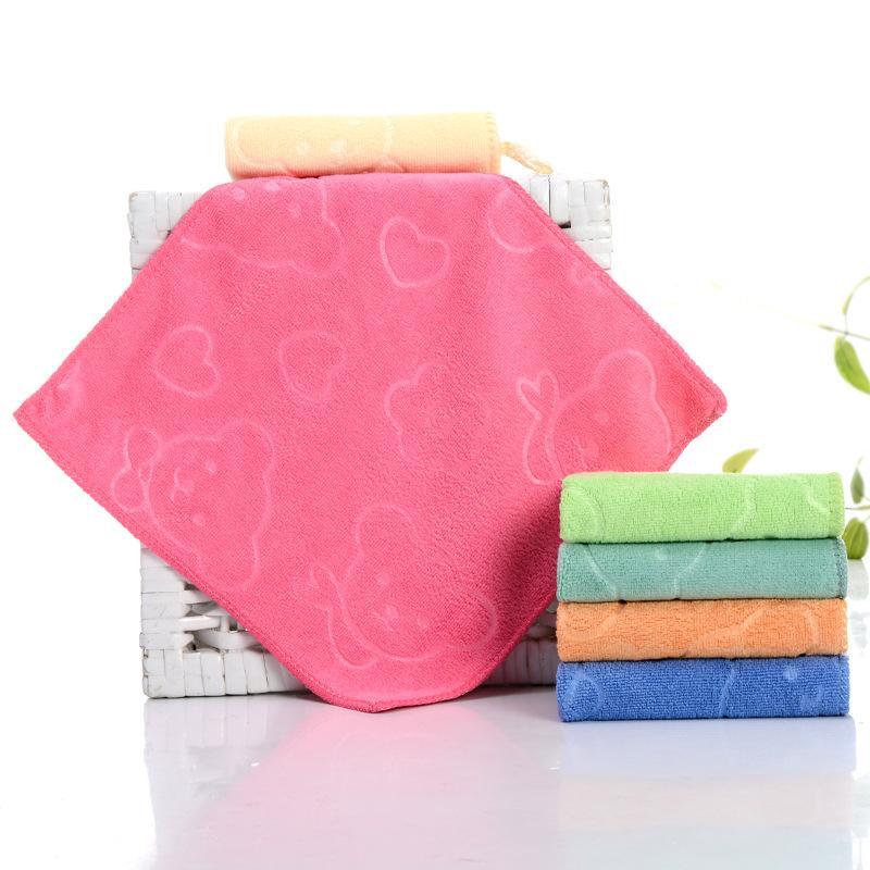 Free shipping. Soft Microfiber Absorbent <font><b>Printing</b></font> Child <font><b>Hand</b></font>&Face <font><b>Towel</b></font>,Kitchen <font><b>towel</b></font> colo