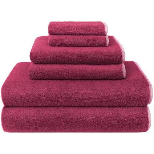 fuschia solid towel set