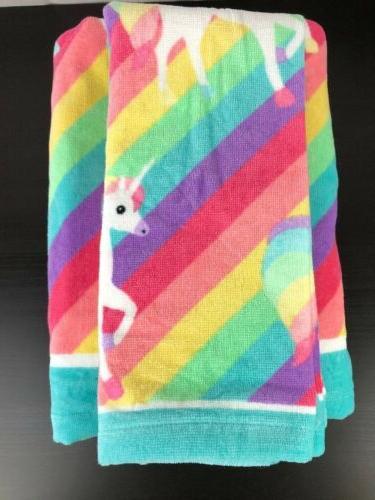 Girls BEBE Towel Hand Washcloths Rainbow