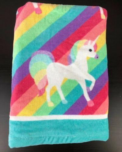 Girls BEBE Towel Hand Towels Washcloths Rainbow
