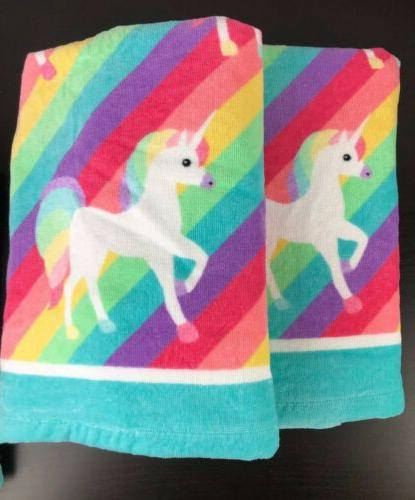 Girls BEBE Towel Set Washcloths NEW