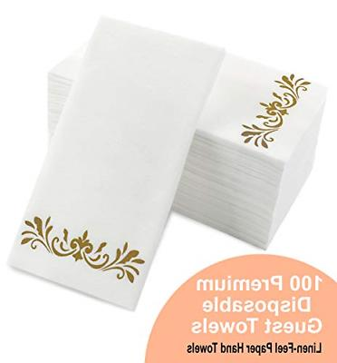 gold dinner napkins disposable party napkins paper