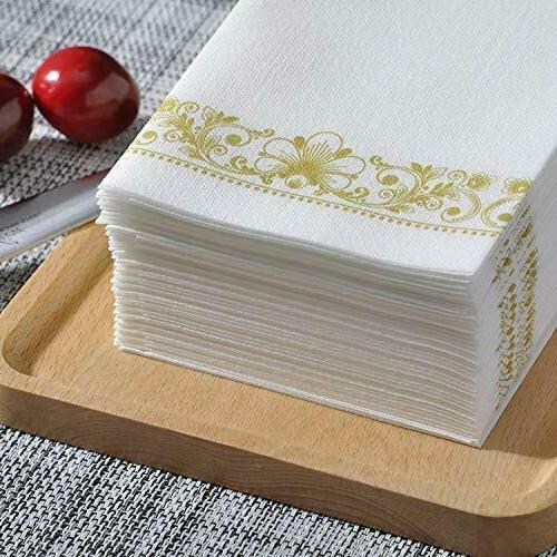 Gold Guest Linen Paper Towels for Bathroom