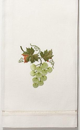 grapes green hand towel