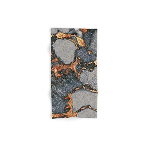 grey gold gemstone hand towel