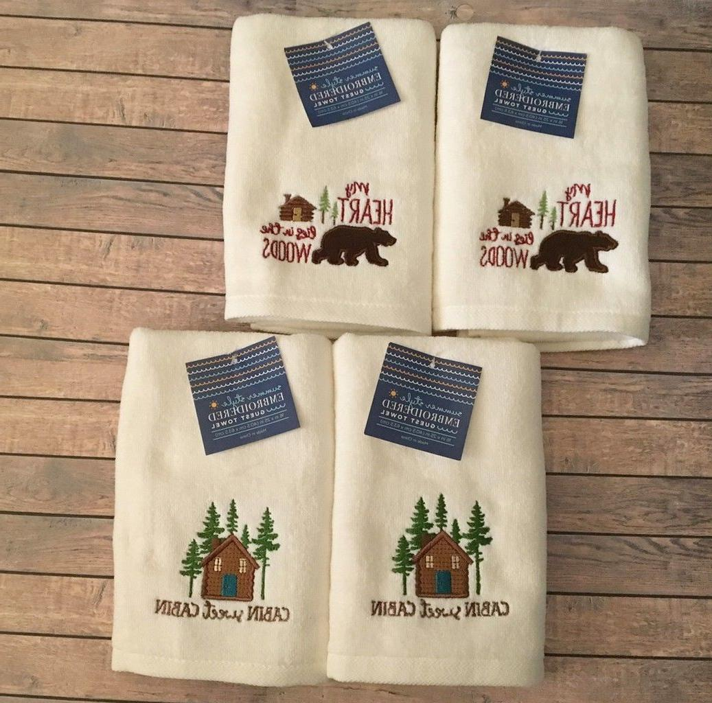 guest hand towels cabin lodge camp set