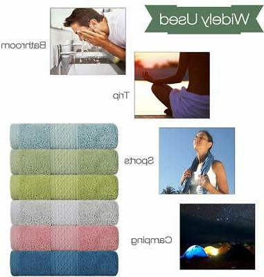 Cleanbear Towel Cotton, Absorbent Hand Towels,
