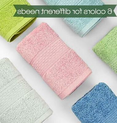Cleanbear Towel Set,100% Cotton, Absorbent Hand Towels,