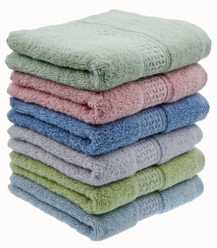 Cleanbear Hand Towel Face Towel Set,100% Cotton, Assorted Co
