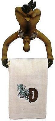 Hand Towel holder Moose Kitchen Rack bathroom cabin log home