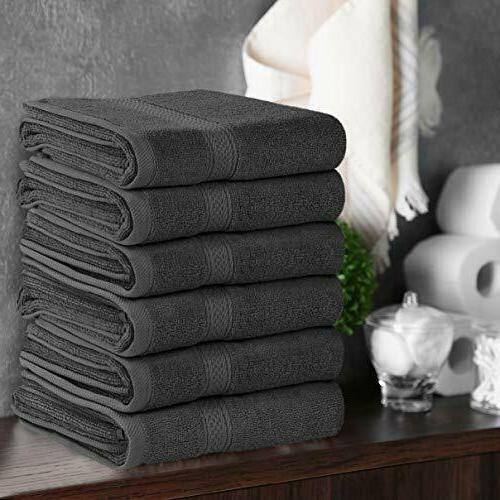 Pack 6 Premium Cotton Hand x 28 Inches GSM Towels