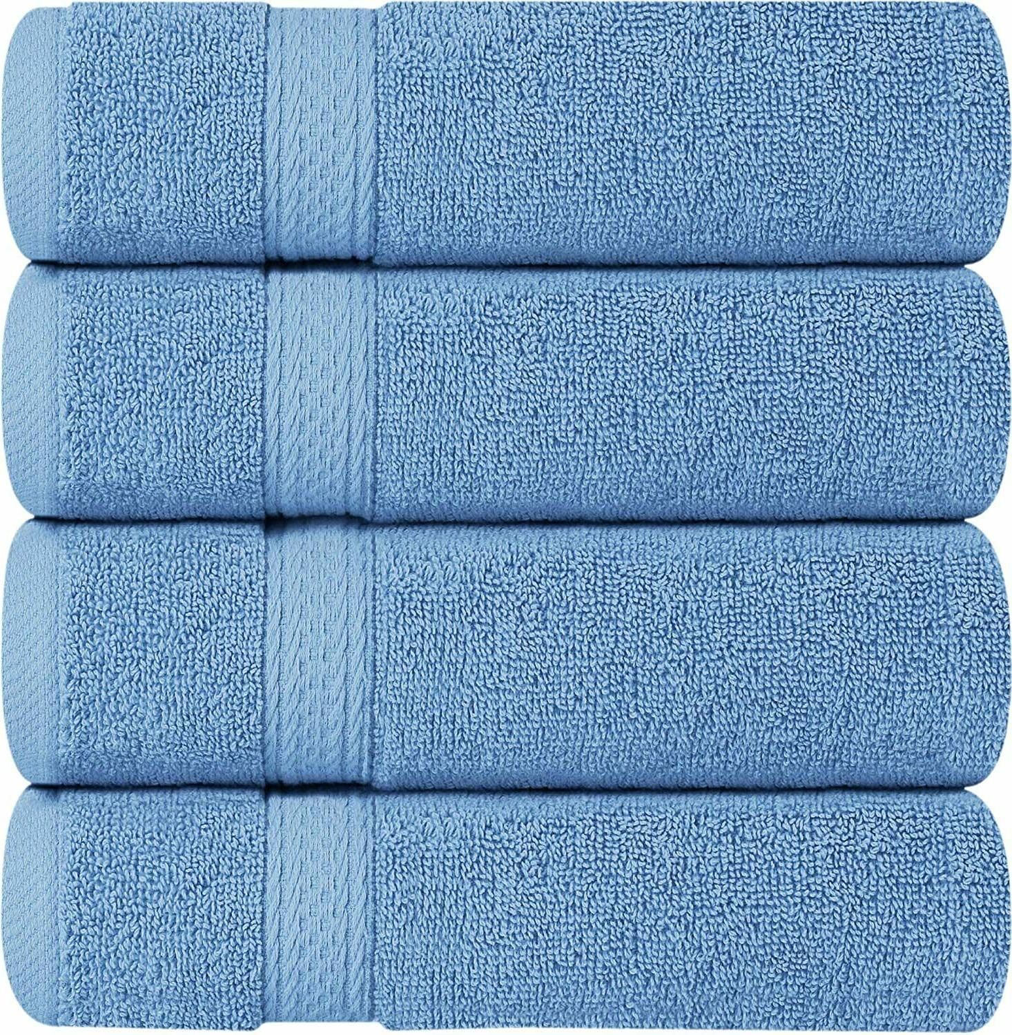 Pack of 6 Premium Cotton 16 x 28 Inches GSM Towels