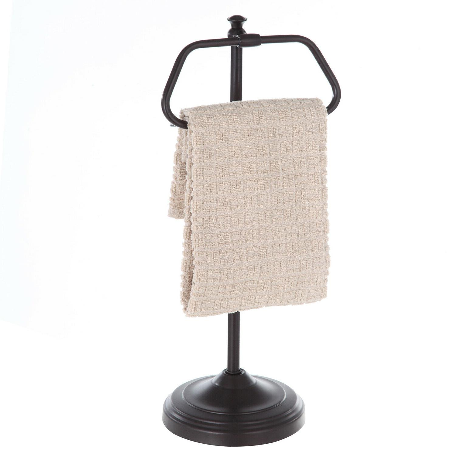 Hand Towel Ring Holder Oil Rubbed Bronze Bathroom Free Stand