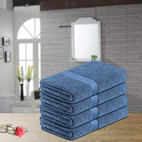 LiveComfort 4-Pack Towel Set, Super Soft Face, 100% Cotton and Machine Washable