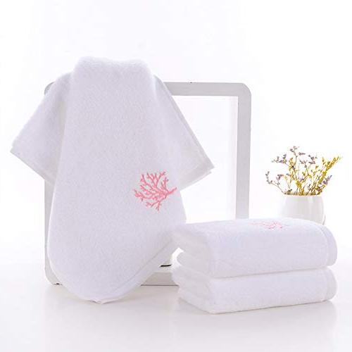 Pidada Hand Towels, 100% Highly Super Soft, Embroidery Pattern Hand Towel Set -13 x 28 Inch