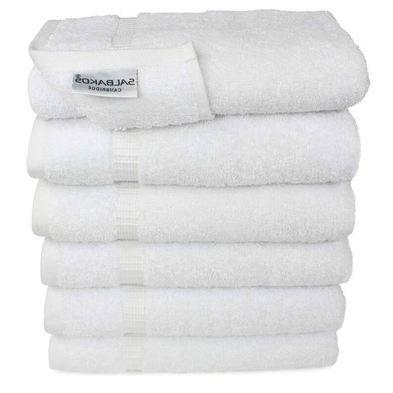 SALBAKOS for Bathroom, White Cotton, 6 Bulk Genuin