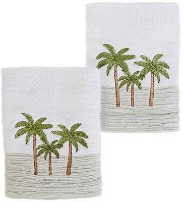 Hand Towels Palm Tree Sunset Embroidered Bathroom Beach Summ