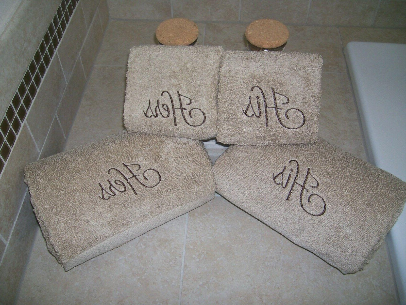 his and hers embroidered 2 bath