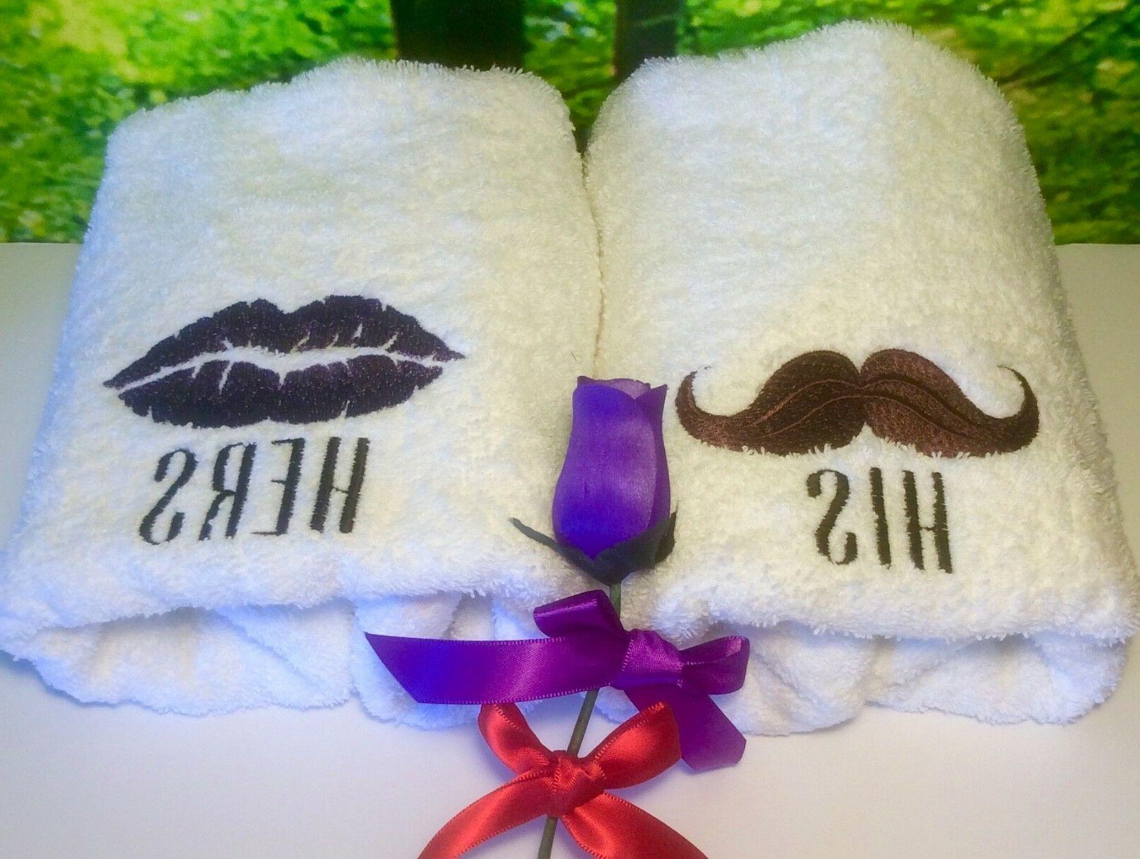 His Hers Towels, Anniversary/Wedding Towel Sets