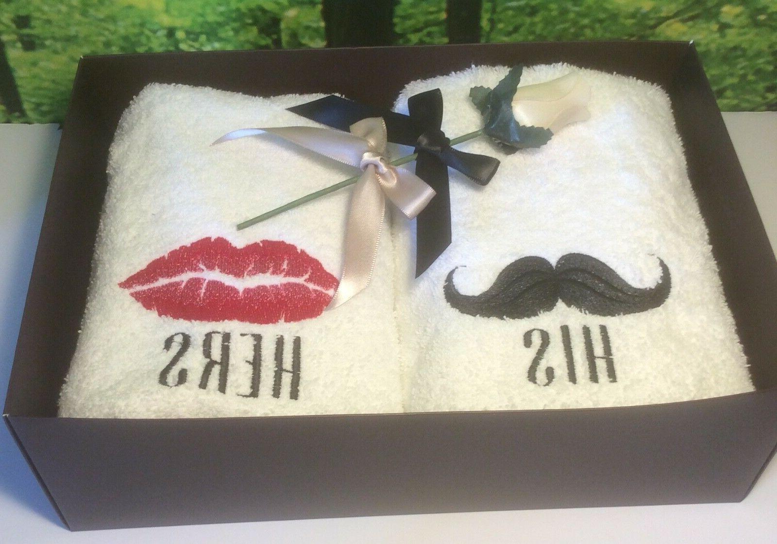 His Anniversary/Wedding Hand Towel His and Hers Towel Sets