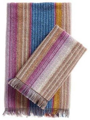 home soft stripe cotton towels set of