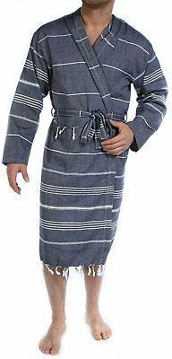 Cacala Hooded Pestemal Fabric 100% Turkish Kimono