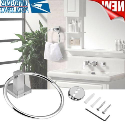 Hotel Home Sticker Hand Towel Holder Ring Bathroom Hanger Ra