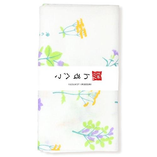 irodori tenugui japanese white gauze