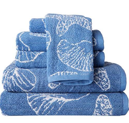 jacquard wedgewood blue towel set