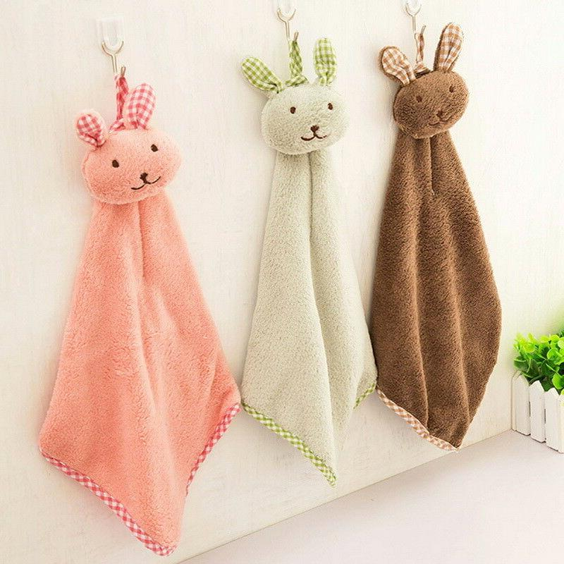 Kitchen Bathroom Velvet Towels Decor