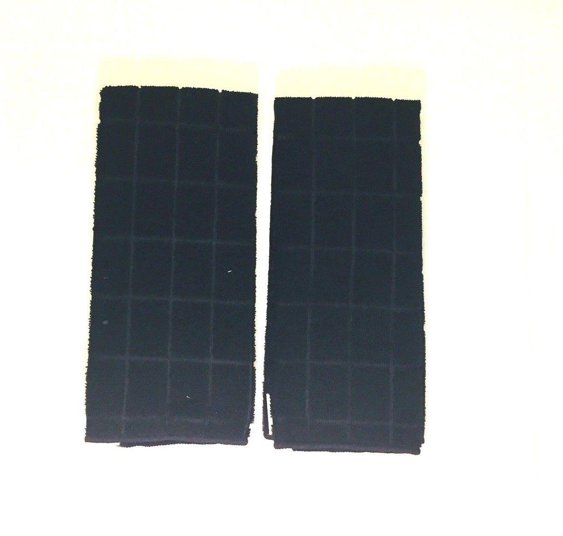 """Kitchen Towels Black Solid Of Two New X 25"""""""