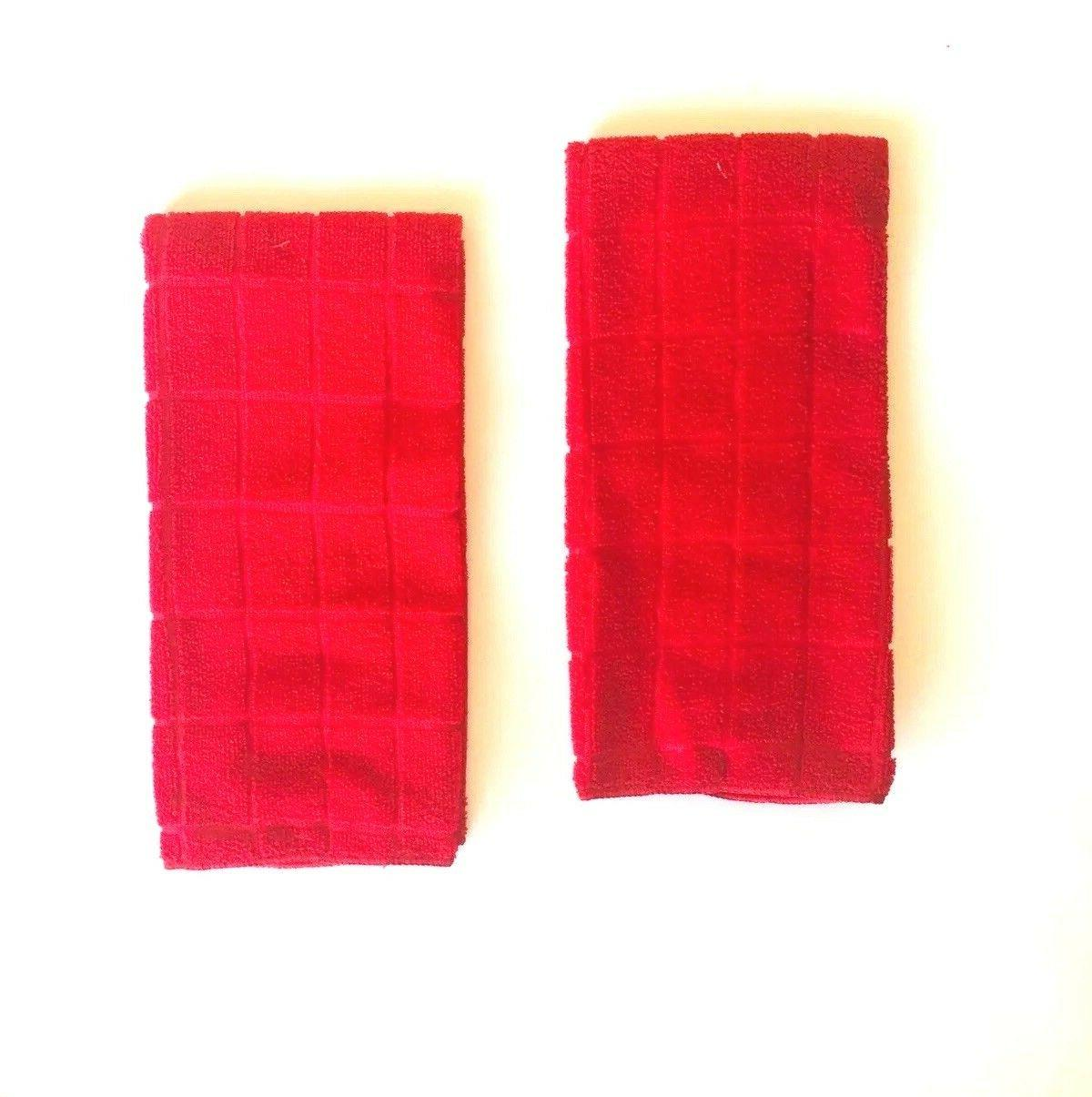 Kitchen Towels Solid Red Set of 25 inches