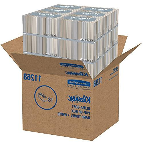 Kleenex Ultra and Absorbent, Pop-Up Box, Boxes / 70 Paper Hand 1,260 Sheets Case