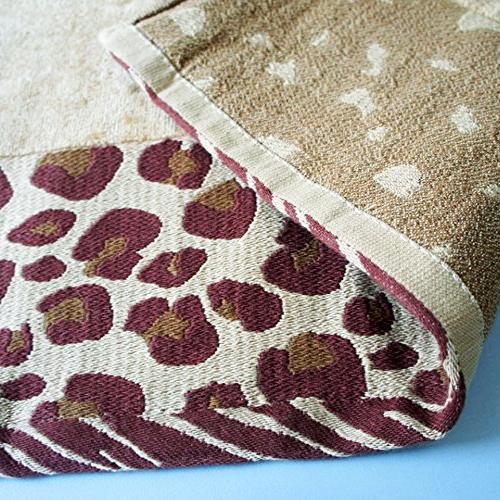 USTIDE 3-Piece Leopard Bath Set Solid Cotton Hand Soft Water Towels