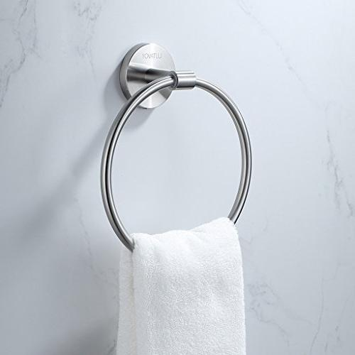 lh10 towel ring brushed stainless
