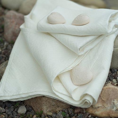 linen rhomb damask hand guest