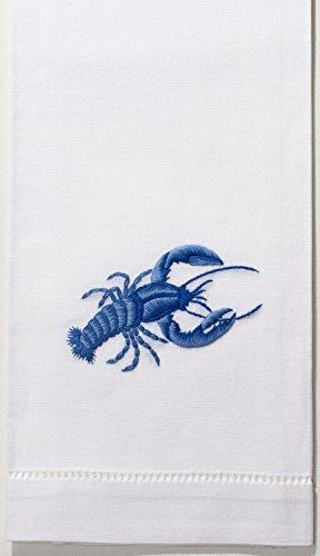 lobster indigo hand towel