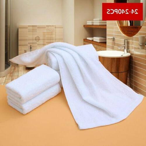 LOT PACK WHITE HAND TOWELS 13X30