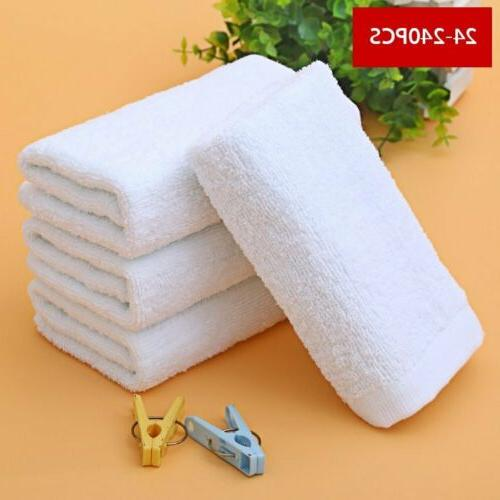 LOT 24 PACK WHITE HAND 13X30 100% COTTON GYM SALON