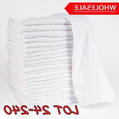 lot 24 240 pack white hand towels