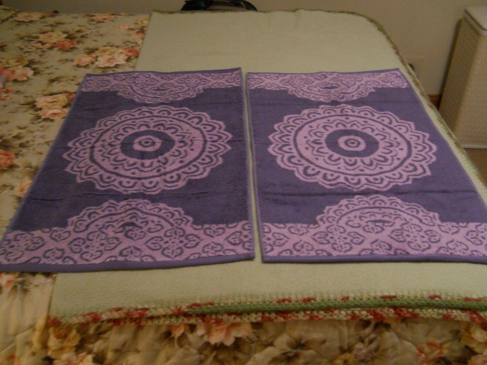 lot of 4 hand towels jacquard design