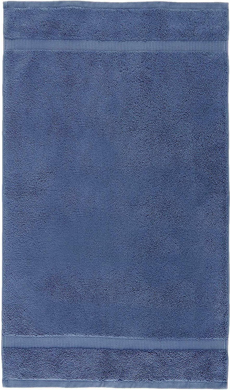 Luxurious Hand Towels, Set of 6, Indigo Blue