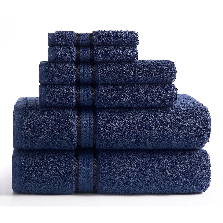 Luxury Towel Washcloth Bath Cloth Soft Absorbent of 6