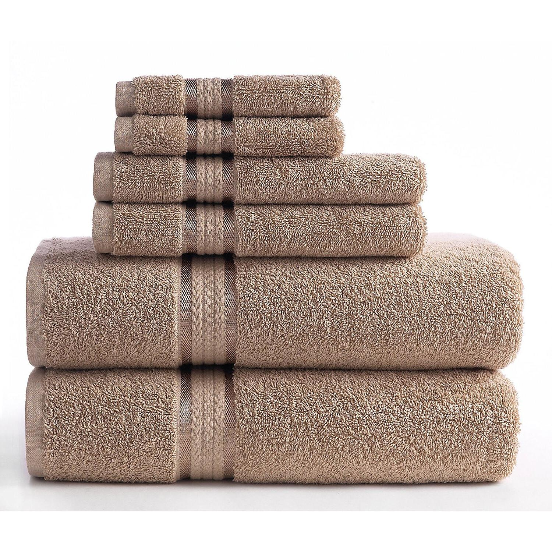 Luxury Cotton Set Washcloth Bath Hand of 6