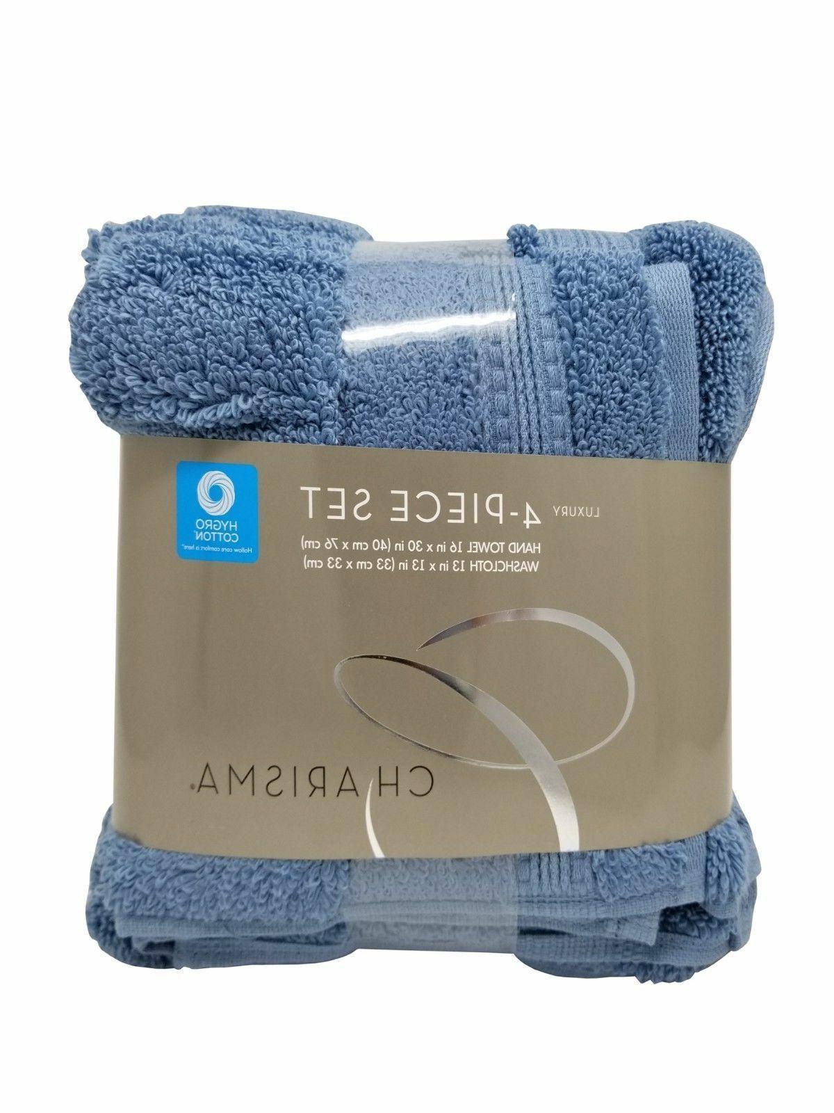 Charisma Luxury Hand Towels & Wash Cloths Set 100% Hygro Cot