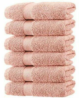 luxury pink hand towels soft cotton absorbent
